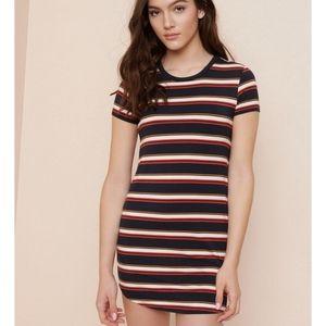 Garage Striped T Shirt Dress